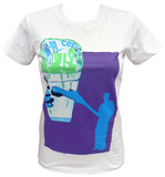 Juniors: Animal Collective - White Snowcone T-shirts