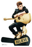 Justin Bieber Believe with Guitar Lifesize Standup Poster Imagen a tamaño natural