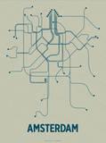 Amsterdam Sérigraphie par  Line Posters
