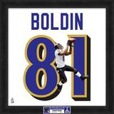 Super Bowl XLVII Champions - Ravens, Anquan Boldin representation of player's jersey Framed Memorabilia