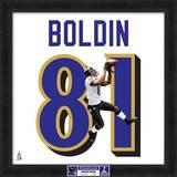 Super Bowl XLVII Champions - Ravens, Anquan Boldin representation of player's jersey Framed Memorabilia