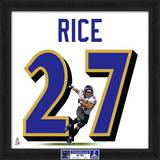 Super Bowl XLVII Champions - Ravens, Ray Rice representation of player's jersey Framed Memorabilia