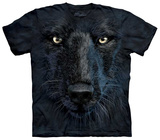 Black Wolf Face T-shirts