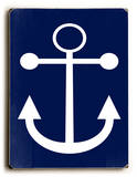 Navy Anchor Wood Sign