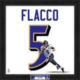 Super Bowl XLVII Champions - Ravens, Joe Flacco representation of player's jersey Framed Memorabilia