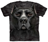 Black Pitbull Head T-Shirt