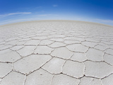 A Fisheye View of the Wide Open Salt Flats at Salar De Uyuni Photographic Print by Mike Theiss