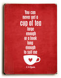 Cup of Tea-red Wood Sign