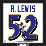 Super Bowl XLVII Champions - Ravens, Ray Lewis representation of player's jersey Framed Memorabilia