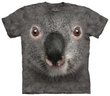 Gray Koala Face T-Shirt