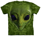 Green Alien Face T-shirts