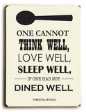 Dine Well Wood Sign