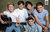 One Direction - Horizontal Group with Guitar Music Poster Posters