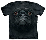 Black Pug Face T-shirts