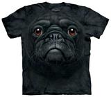 Black Pug Face T-Shirt