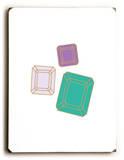 Gems-teal Wood Sign
