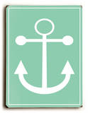 Anchor-Green Wood Sign