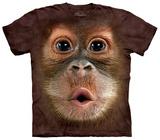Big Face Baby Orangutan T-skjorte