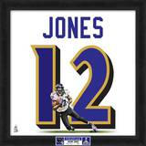 Super Bowl XLVII Champions - Ravens, Jacoby Jones representation of player's jersey Framed Memorabilia
