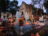 Xoxocotlan Graveyard on the Night of Day of the Dead Photographic Print by Raul Touzon