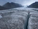 The Kviarjokull, an Exit Glacier Flowing from the Vatnajokull Icecap Photographic Print by Bill Hatcher