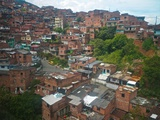 The Hillside Community of Santo Domingo in Medellin, also known as Comunas Photographic Print by Kike Calvo