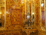 The Amber Room in the Catherine Palace in Tsarskoye Selo Photographic Print by Keenpress