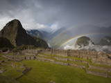 A Double Rainbow Forms Above Machu Picchu Photographic Print by Michael Melford