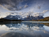 Los Cuernos Del Paine Seen across Lake Pehoe Photographic Print by Alex Saberi
