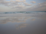 The Surf Rolls in at Detwah Lagoon Photographic Print by Michael Melford