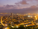 Overlooking Cartagena, Colombia Lit Up at Night Photographic Print by Mike Theiss