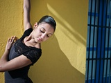 A Classical Ballerina from the Cuba National Ballet at the Malecon Photographic Print by Kike Calvo