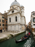 A Gondola Passing the Santa Maria Dei Miracoli Church Photographic Print by James P. Blair