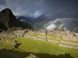 Rainbows Above Machu Picchu Photographic Print by Michael Melford