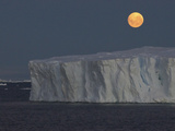 Iceberg with Rising Moon in the Weddell Sea Photographic Print by Bob Smith