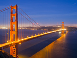 The Golden Gate Bridge Illuminated at Night Photographic Print by Mike Theiss