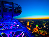 London Sky Line at Sunset from London Eye Photographie par Jorge Fajl