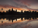 Sunrise over Angkor Wat's Temples Photographic Print by Michael Melford