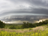 A Shelf Cloud from a Supercell Thunderstorm in Tornado Alley Photographic Print by Mike Theiss