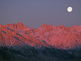 The Moon Sets at Sunrise over the Sierra Nevada and Mount Whitney Photographic Print by Gordon Wiltsie