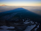 The Shadow of Mount Saint Helens Flanked by Mount Adams Photographic Print by Diane & Len Cook & Jenshel