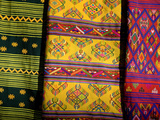Textiles for Sale at the Black Crane Festival, Gangtey Monastery Photographic Print by Alison Wright