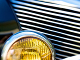 Close Up of the Grill and Headlight of a 1940 Mercury Eight Car Photographic Print by Heather Perry