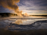 Great Fountain Geyser in Yellowstone National Park Photographic Print by Michael Melford