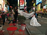 A Wedding in Times Square, New York at Night Photographic Print by Kike Calvo