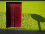 A Green Building with a Red Door in Merida Photographic Print by Tino Soriano