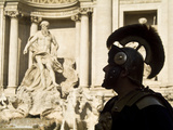 A Reenactor in Roman Costume at Trevi Fountain Photographic Print by Daniella Nowitz