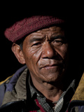 A Metal Worker from the Small Village of Philm in the Manaslu Region Photographic Print by Alex Treadway