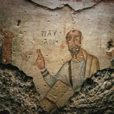 A 4th-Century Fresco of the Apostle Paul Preaching Photographic Print by Lynn Johnson