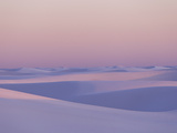 Pink and Purple Illuminated Sand Dunes During Sunset Photographic Print by Mike Theiss